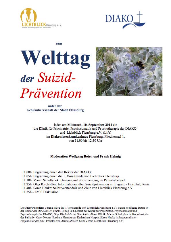 Welttag der Suizidprävention 2014